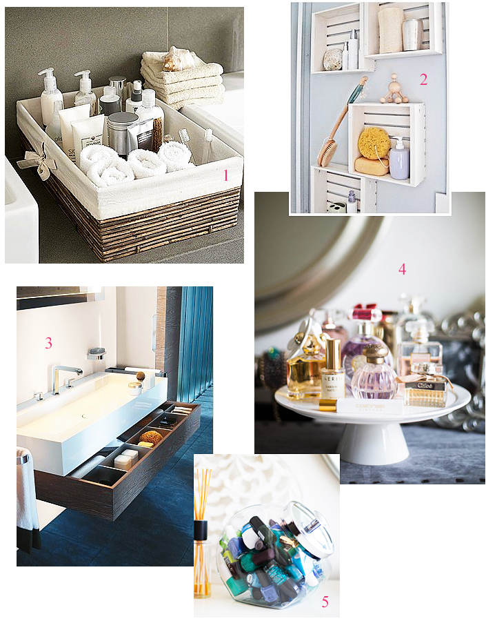 Decor ideas the bathroom the blue dress girl - Rangement petite salle de bain ...