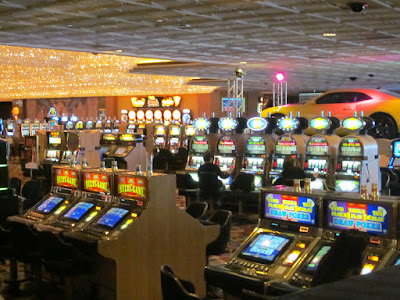 casino gaming floor slot machines vegas stock photo