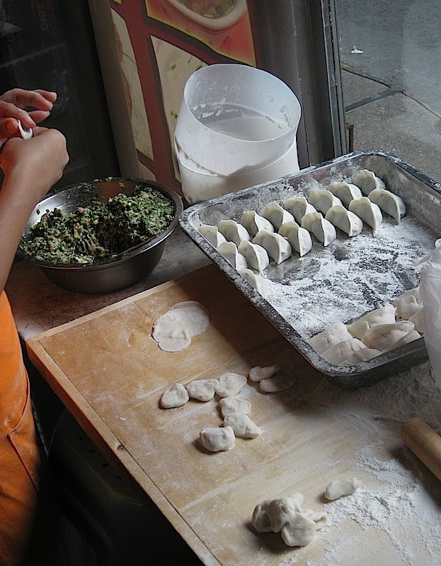making dim sum dumplings