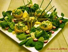 Salade de fonds d'artichaut, d'avocat et d'asperges