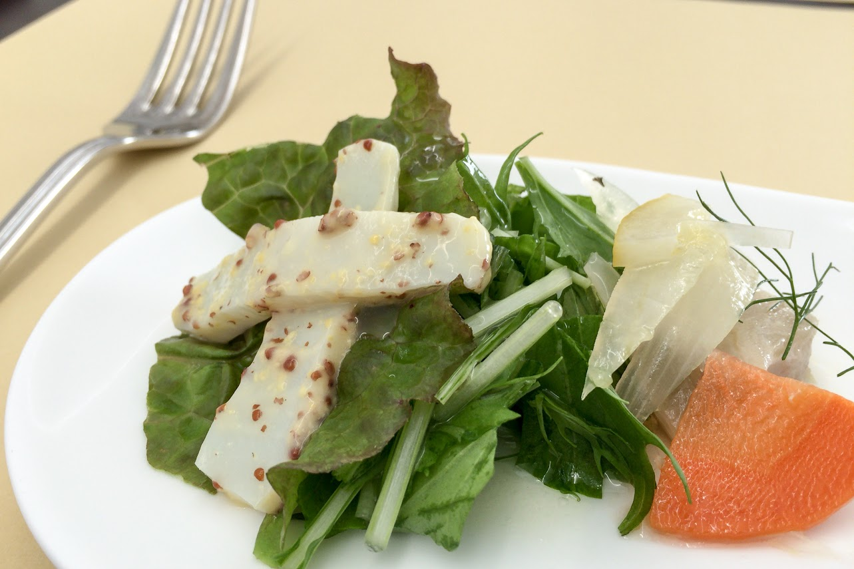 プチオードブル:白身魚のエスカベッシュ&イカマスタード和え