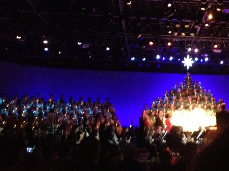 EPCOT candlelight processional, featuring school choirs