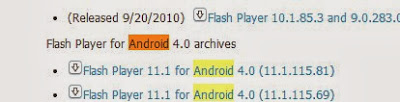 Flash Player 11.1 for Android 4.0