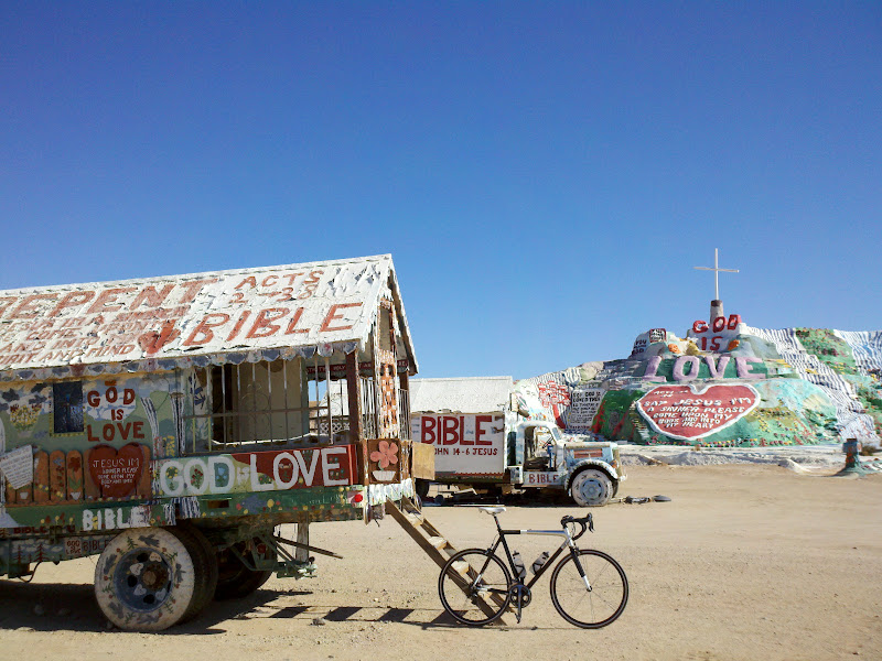 Salton Sea Circumnavigation • Salvation Mountain
