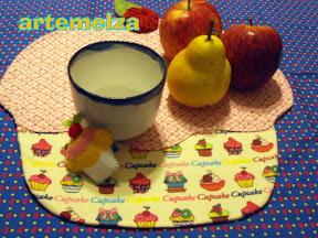 artemelza - jogo americano cupcake