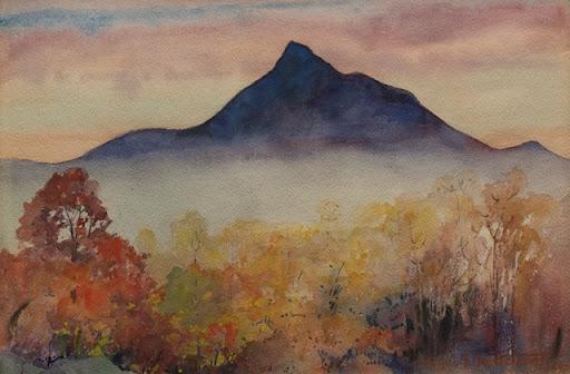 Karl Nordström - Dawn Mt Chocorua 1925