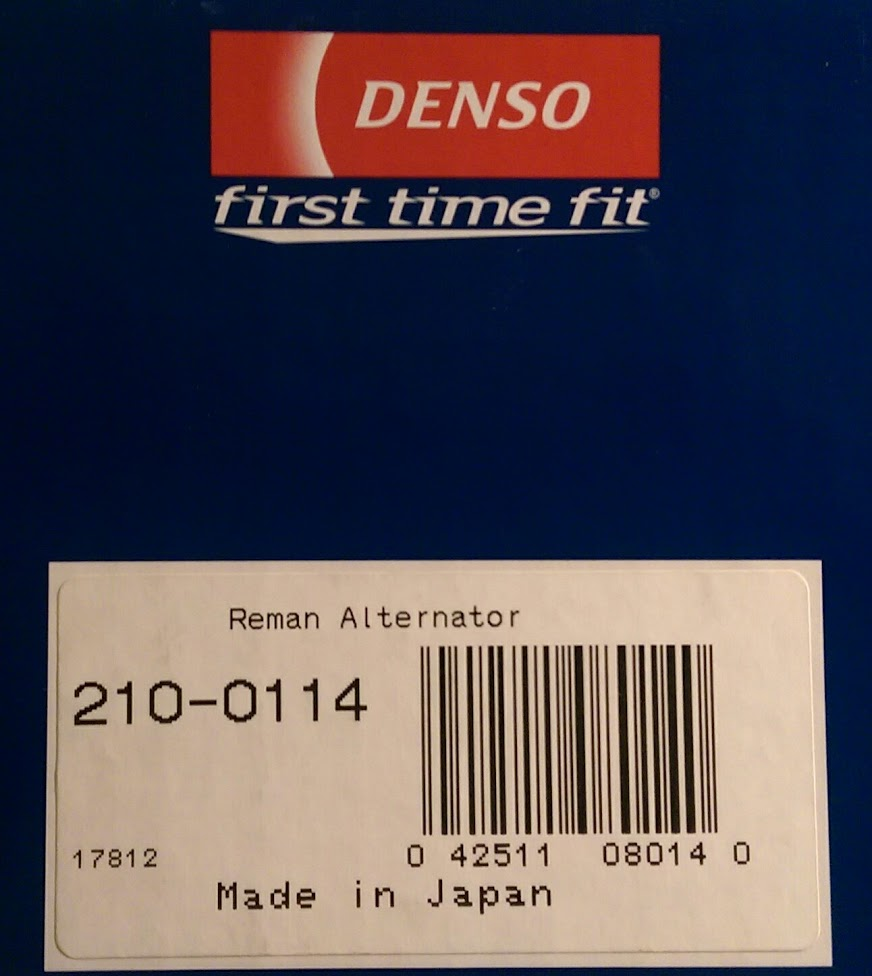 NOT REMANUFACTURED NO SURCHARGE DENSO Alternator DAN1085  BRAND NEW