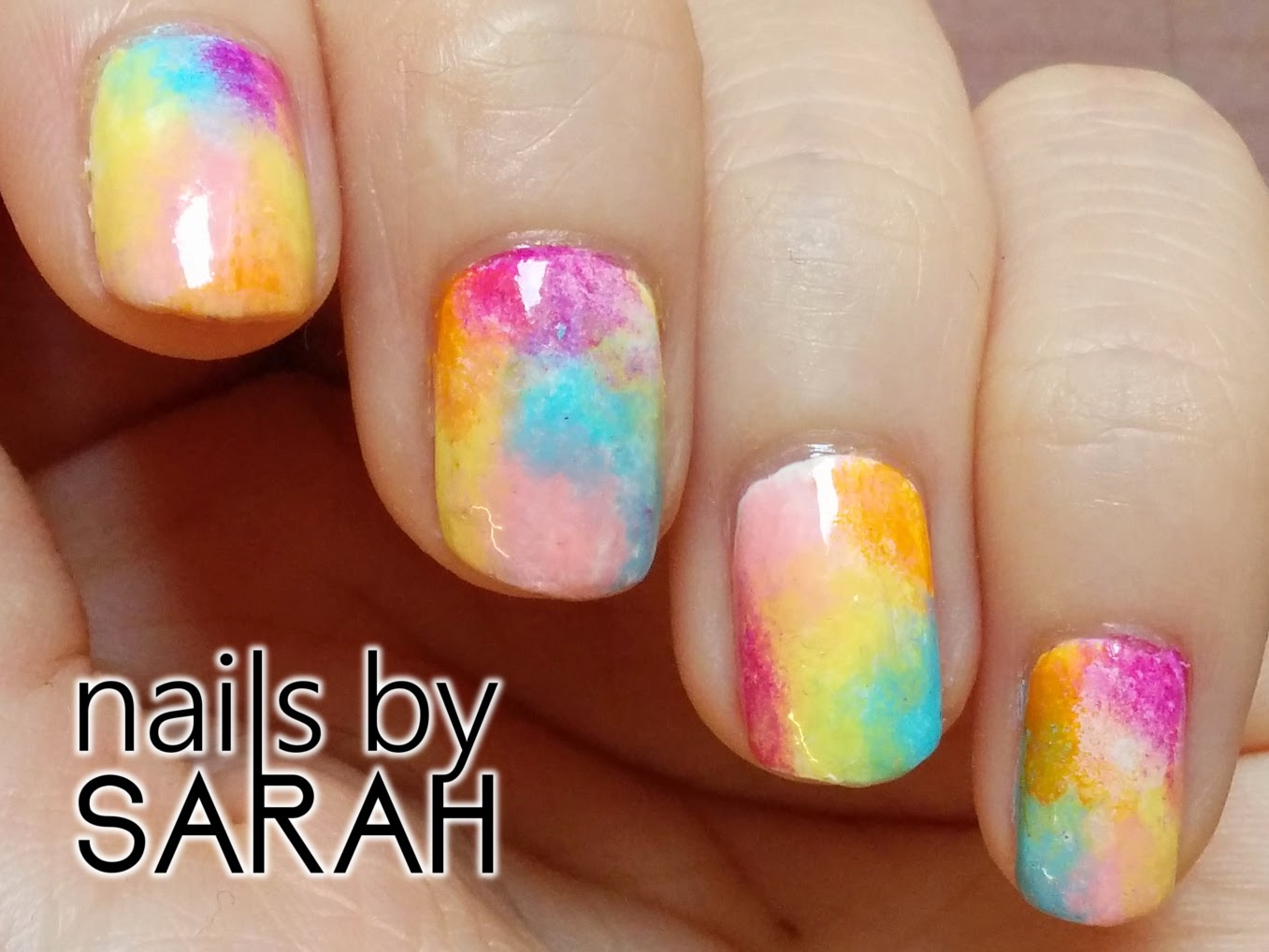 Paddle Pop nails close up