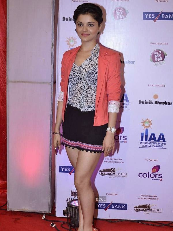 Rubina Dilaik at the International Indian Achievers Awards event, held at Filmcity in Mumbai. (Pic: Viral Bhayani)
