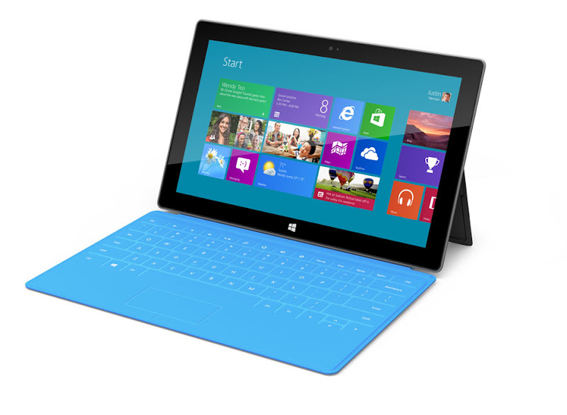 Microsoft Surface tablet promo shot