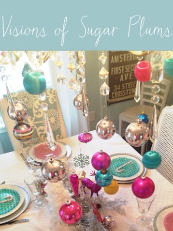 Visions of sugar plums tablescape