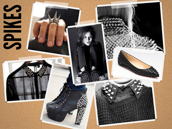 Spikes fashion trend spikes collars spike rings spike jeffrey campbell spike louboutins