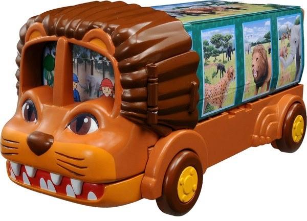 Hình ảnh sắc nét của bộ đồ chơi Xe hình sư tử Lion Bus chở động vật Ania