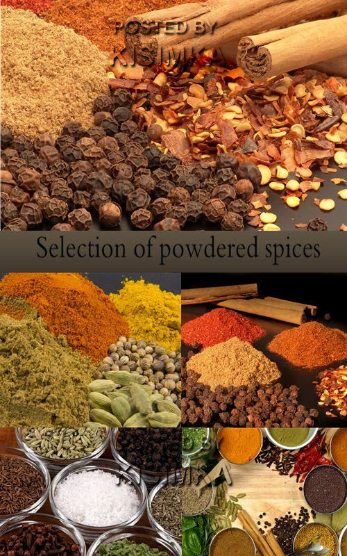 Stock Photo: Selection of powdered spices