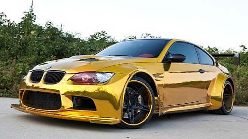 Car Fans Widebody Golden Bmw M3 With Lambo Style Doors
