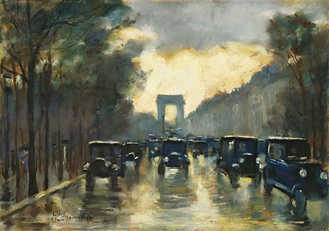 Lesser Ury – Champs-Elysees mit Arc de Triomphe 1928