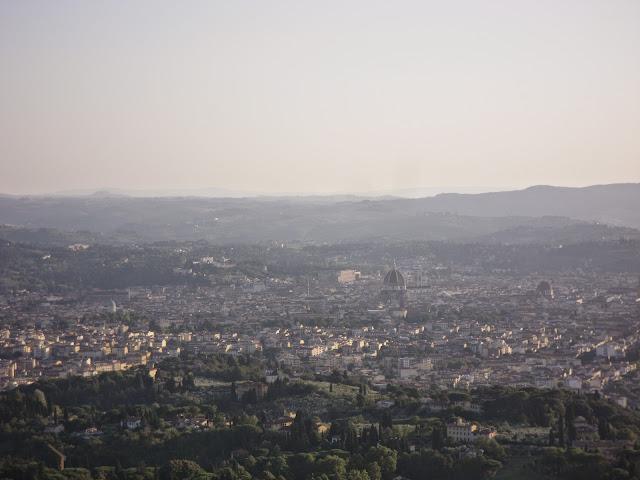 Vista panorámica de Florencia desde Fiesole