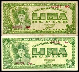 gambar uang kuno 5 rupiah