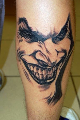 joker face tattoos for men