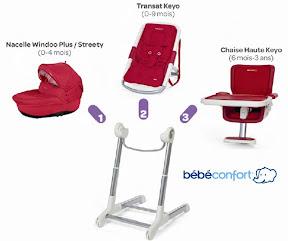 chaise haute keyo de b b confort cubes petits pois. Black Bedroom Furniture Sets. Home Design Ideas
