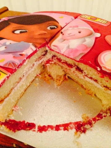 Doc McStuffins Doctober Twitter Party cake