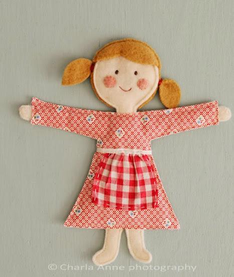 Corpo boneca de pano finalizado