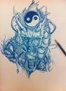 dragon and yin yang tattoo Designs 3