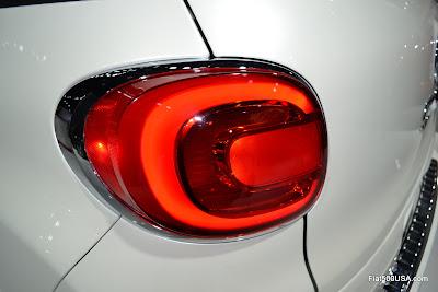 Fiat 500L taillights