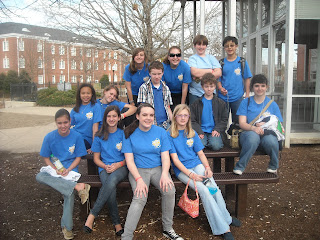 Montgomery Catholic's Middle School Science Olympiad Team Participate in Regional Competition at AU 1
