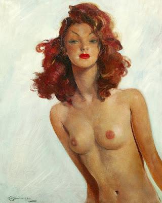 Jean-Gabriel Domergue - Le modèle au seins nus