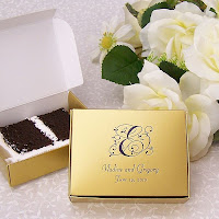 4 1/2 x 3 1/2 Personalized Wedding Cake Slice Favor Boxes