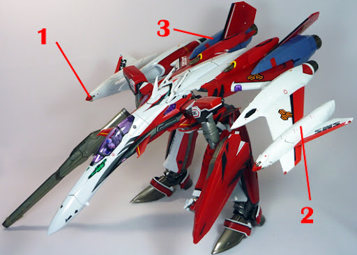 Macross Frontier YF-29 Super Durandal Armament weapon position