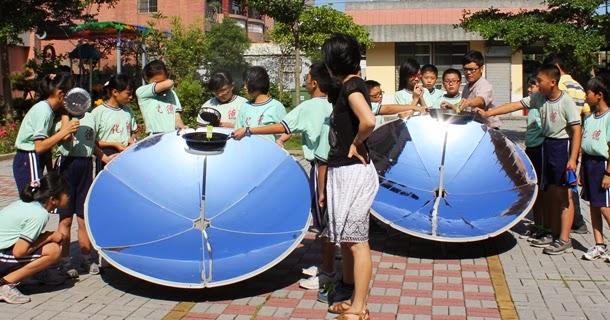 能源教育融入學校課程-學生親自體驗太陽灶