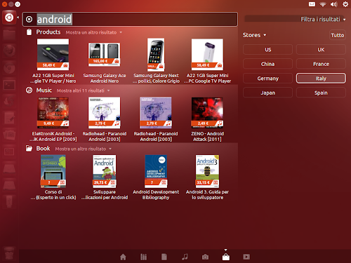 Amazon Shopping Lens Alternate su Ubuntu 12.10