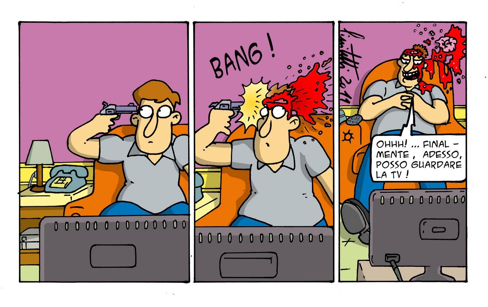 Millevignette di ignazio piscitelli guardare la tv for Guardare la tv