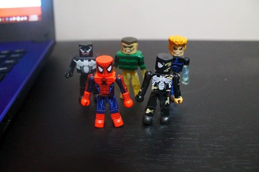 spider-man marvel minimates venom sandman hydro-man