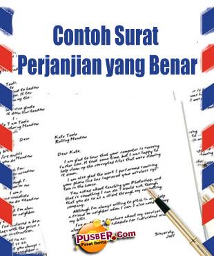 Contoh Surat Perjanjian Yang Benar - pusber.com