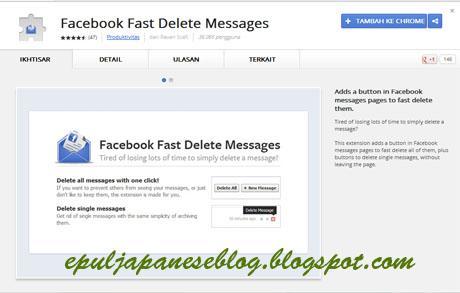 Cara Menghapus Pesan Facebook Dengan Satu Klik
