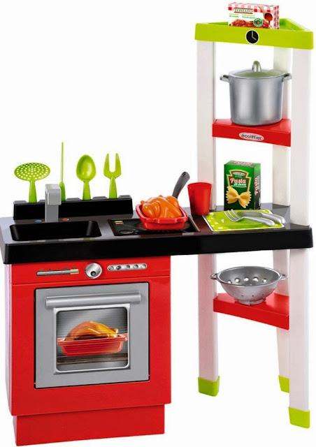 Bộ Nhà bếp kiểu Pháp Toy Kitchen Set Ecoiffier 1737 màu sắc tươi sáng, hình ảnh phong phú