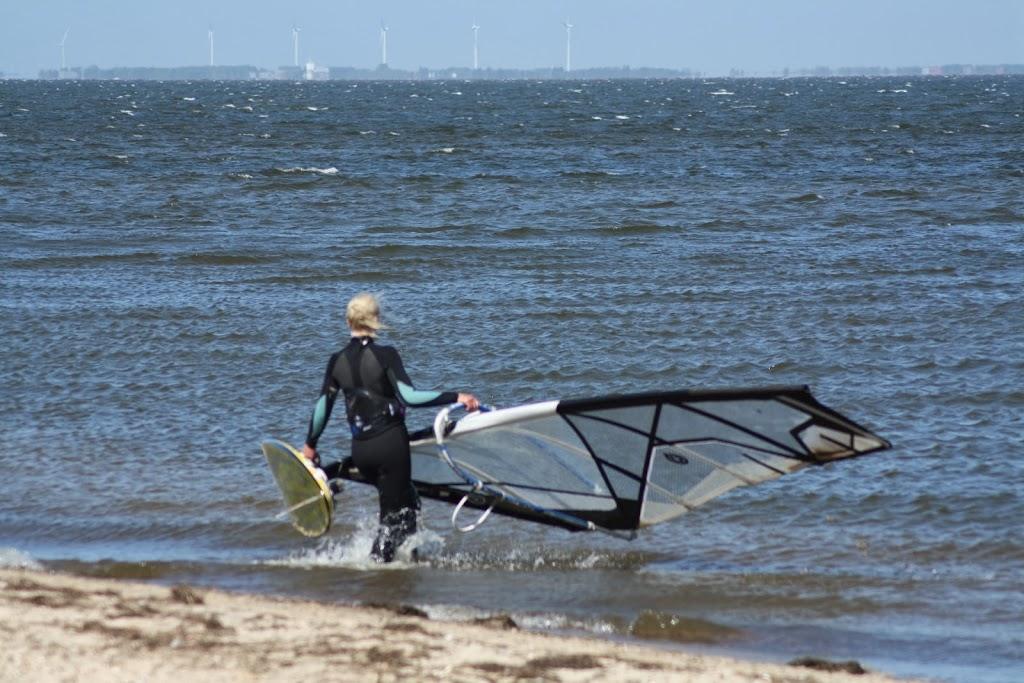 Windsurfster Marieke Meijs