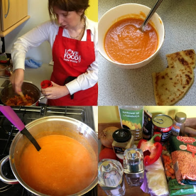 Red Soup with Honey & Ginger. Aberdeen Forward - Love Food Hate Waste