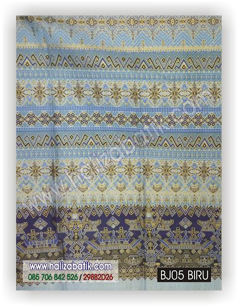 Batik Murah, Macam Macam Batik, Batik Modern, BJ05 BIRU
