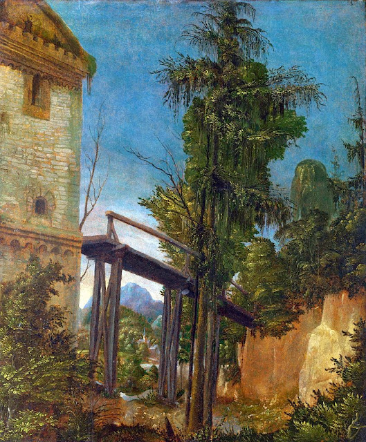 Albrecht Altdorfer - Landscape with a Footbridge
