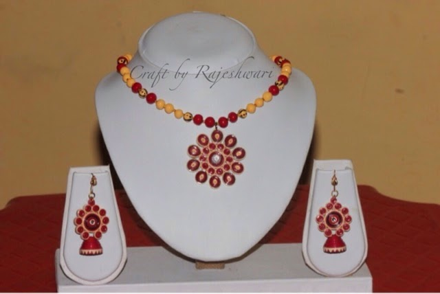 Make Quilling Jewelry Quilled Jewelry Set Maroon