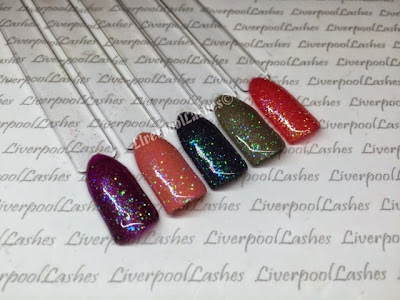 liverpoollashes liverpool lashes lecente ultra fine glitter in rhubarb cnd shellac layering combinations