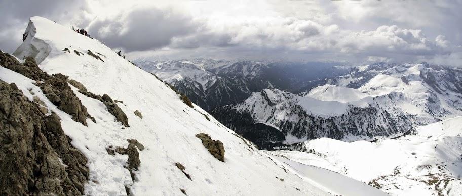 Panoramica della Vetta del Sasso Piatto (2965 m)
