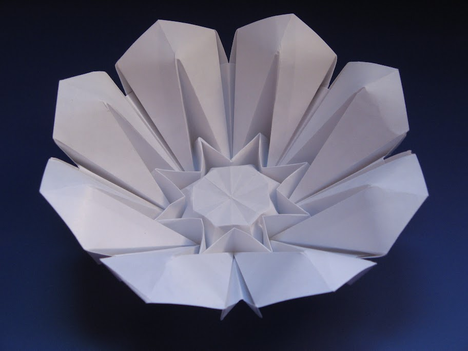 Origami foto Corolla (petali alzati) - (petals raised) by Francesco Guarnieri