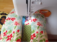 Continue quilting the horizontal seams