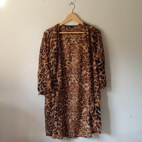 Sammi Jackson - Choies Leopard Print Kimono