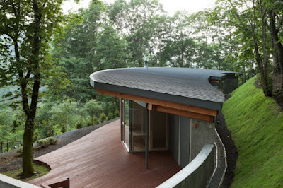 Gorgeous House in a Hill by Cell Space Architects 600x400 Rumah Indah Di Lereng Bukit